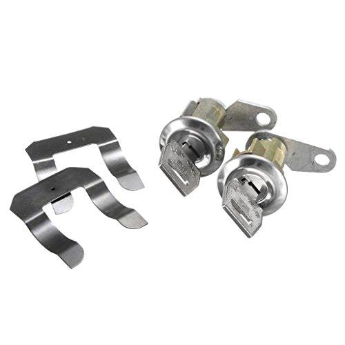 Baosity Pair Car Door Anti-theft Lock w/Keys for Ford Truck Pinto Torino