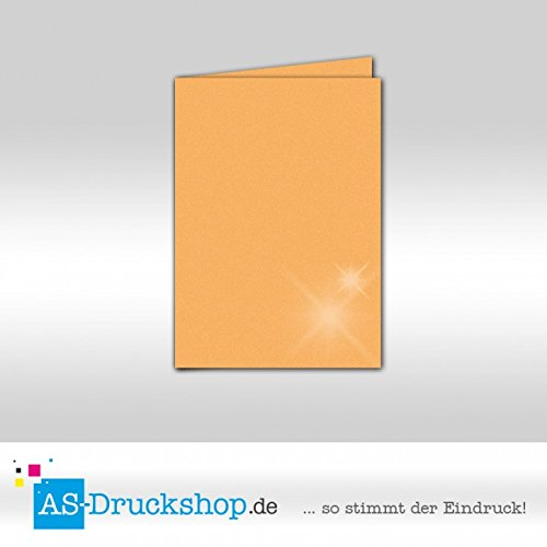 Faltkarte Doppelkarte - Gold - mit Perlmutt-Glanz 50 Stück DIN B6 B0794Z8FZK | Adoptieren