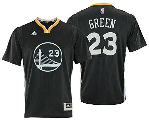 adidas NBA Men's Golden State Warriors Draymond Green Swingman Jersey, Black Small