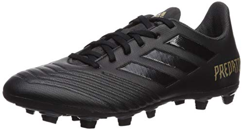 adidas Men's Predator 19.4 Firm Ground Soccer Shoe, Black/Gold Metallic, 10.5 M US
