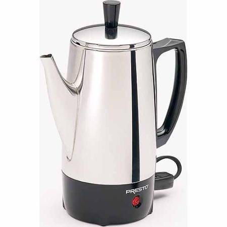 Presto 02822 6-Cup Stainless Steel Coffee Maker, 2822, silver by Presto