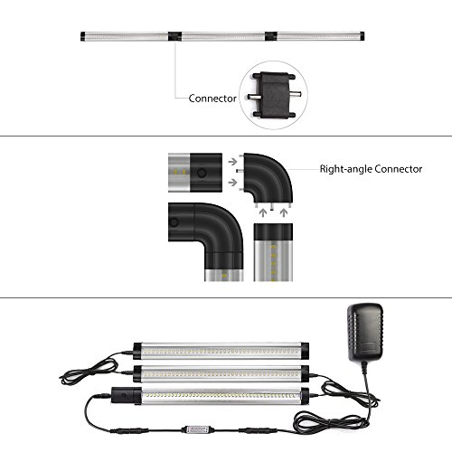 Under Counter Lighting Troubleshooting: ALOTOA Dimmable LED Under Cabinet Lighting, 3 Pack 4W