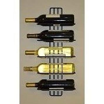 Amazoncom Jj Wire 5 Bottle Wall Wine Rack Wine Rack Wall