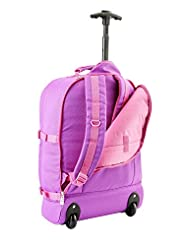 """Cabin Max Lyon Flight Approved Bag Wheeled Carry On Luggage - Backpack 22x16x8"""" (Purple / Pink)"""