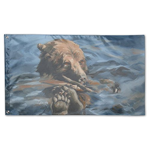 Colby Keats Bear Fun Garden Lawn Flags Indoor Outdoor Decoration Home Banner Polyester Sports Fan Flags 3 X 5 Foot ()