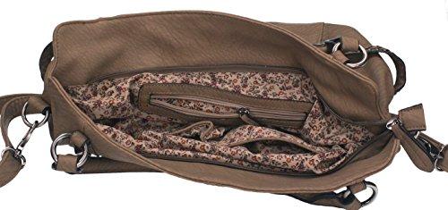 et avec couleur sac fermeture à anses deux Betz à main éclair bandoulière sac pour camel femme camel 4 MILANO fxBO1w