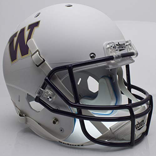 Schutt NCAA Washington Huskies Replica XP Football Helmet, Matte White Alt. 3