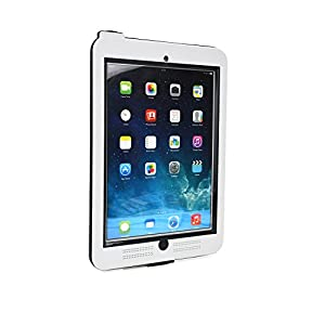 iPad Air 2 / iPad 9.7 2017 Waterproof case, COOPER SUBMARINE Water Resistant IP68 Outdoor Rugged Heavy Duty Tough Durable Shockproof Protective Case Cover with Screen Protector (White)