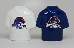 COLLEGIATE LICENSING SALT AND PEPPER SHAKER - BOISE STATE JERSEY by Pacific Giftware