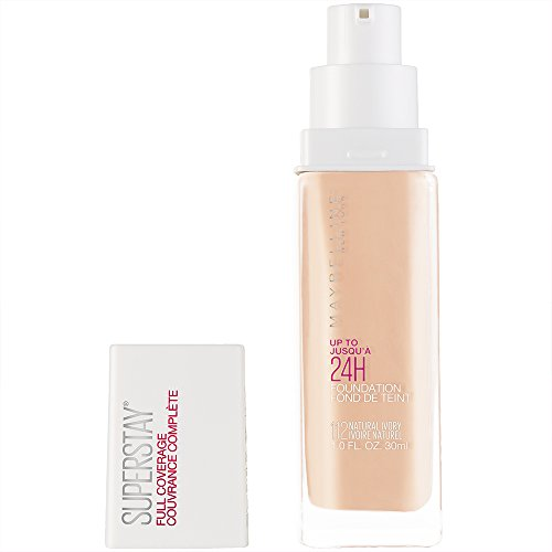 Maybelline New York Super Stay Full Coverage Liquid Foundation Makeup, Natural Ivory, 1 fl. oz.