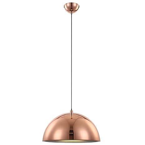 Lámpara de techo 1-lámpara de techo color: cobre/plata ...