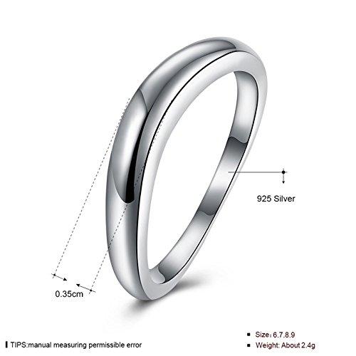Beydodo anillo de las mujeres anillo de plata, para Brides plata Classic alta pulido tamaño 6 - 9 Anillos de boda: Amazon.es: Joyería