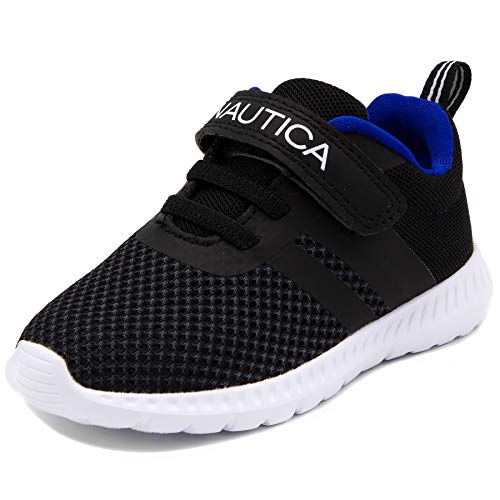 - Nautica Kids Boys Fashion Sneaker Athletic Running Shoe-Towhee-Black-9