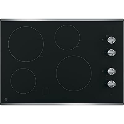 "GE JP3030SJSS 30"" Electric Cooktop with 4 Cooking Elements in Stainless Steel"