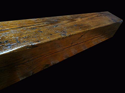 Cheap Reclaimed Barnwood Beam Fireplace Mantel (Wood, 6″x8″x84″)