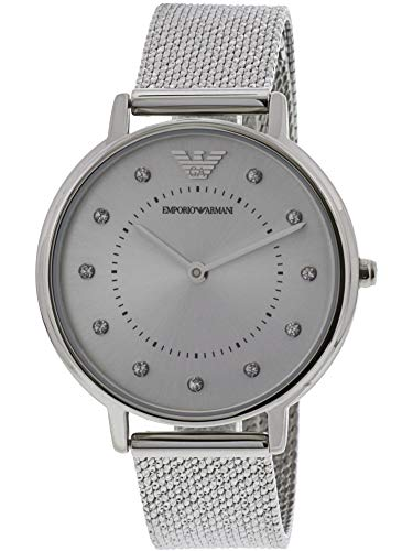 Emporio Armani Women's Quartz Stainless Steel Casual Watch, Color:Silver-Toned (Model: AR11128)