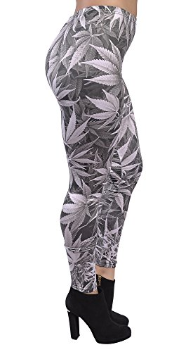 BadAssLeggings Women's Cannais Leggings Medium Gray