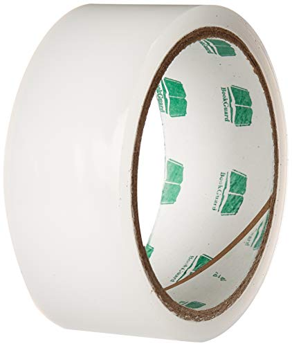 BookGuard Stretchable Clear Book Repair Tape | 15 Yard Roll (1-1/2 - Tape Spine