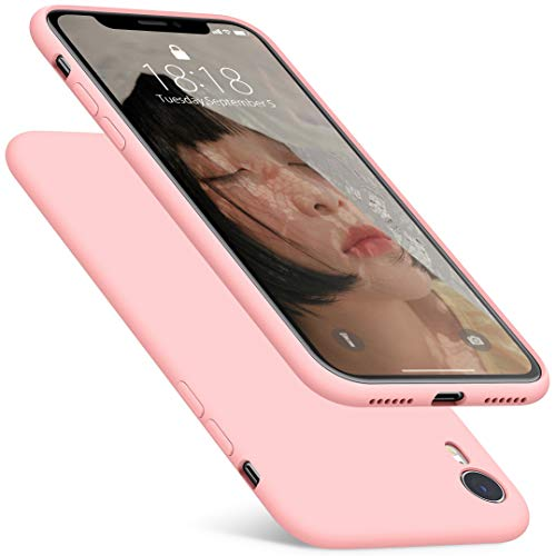 DTTO Case for iPhone XR, [Romance Series] Silicone Case with Hybrid Protection for Apple iPhone XR 6.1 Inch - Crystal Pink ()