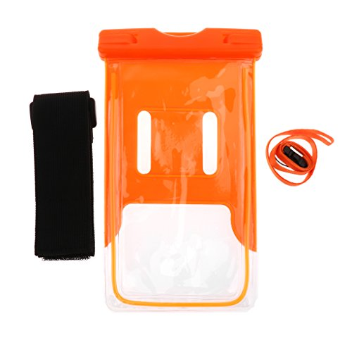 Baosity Durable PVC Roll Top Dry Bag Swimming Tow Float + Waterproof Phone Case For Open Water Swimmers and Triathletes - Orange by Baosity (Image #7)
