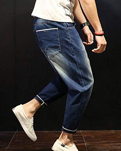 Mezclilla Básicos De Lavado Dunkelblau Normal De Haremshose Pantalones Pantalones Casuales Hombres Mezclilla Ropa Cintura De De Normal Pantalones De Mezclilla Con Mezclilla Para Pantalones Alta Pantalones a0Ux0