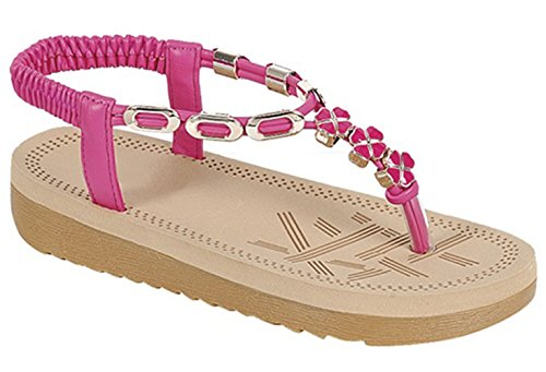 Girls Slingback - Top Comfortable Pink Sandals for Girls Slingback Ankle Strap Easy Slip-on T Strap Thong Flat Wedge Walking Outdoor Pretty Fashion Dress Princess Flip-Flop Slipper Shoe for Sale Her Kid (Size 11, Pink)