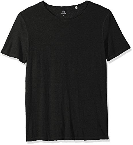AG Adriano Goldschmied Men's Ramsey Short Sleeve Vintage Jersey Crew, True Black, M -