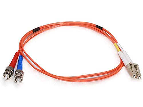 Monoprice 102621 1m Fiber Optic Cable LC/ST OM1 Multi Mode Duplex (62.5/125 Type), Orange