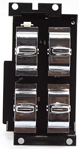 Power Window Switch Driver Side Compatible with 1991-92 Oldsmobile Custom Cruiser 1991-96 Caprice 1991-93 Buick Roadmaster 1994-96 Impala 4-Buttons 10-Prong Blade Male Terminals 2 Female Connetors