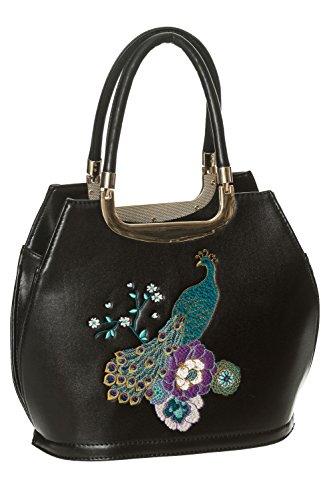 Banned-Mayuree-Vintage-Retro-Handbag-Black-or-Midnight-Blue