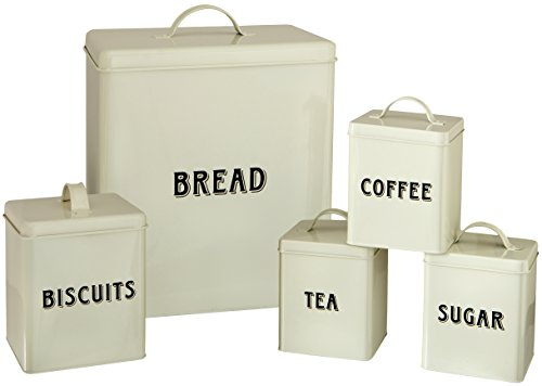 Maturi 5-Piece Cream Metal Storage Set