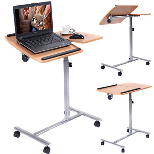 Swivel Dining Chair Pedestal Base (Good Quality Adjustable Laptop Notebook Desk Table Stand Holder Swivel Home Office Wheels)