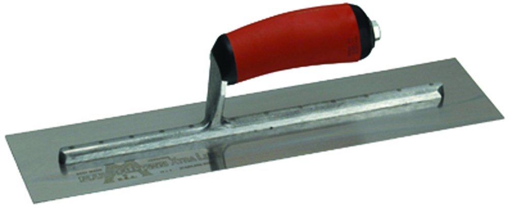 MARSHALLTOWN The Premier Line MXS54D 10-Inch by 3-Inch Finishing Trowel with Curved DuraSoft Handle