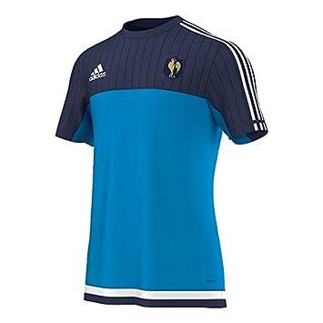 Adidas - Camiseta para Hombre FFR Francia Rugby Performance Azul Solblu/Dkblue/White Talla:M: Amazon.es: Deportes y aire libre