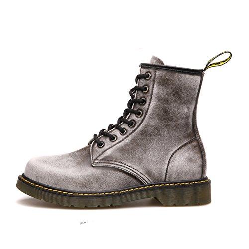 Scarpe casual maschile vestito alpinismo autunno all'aperto francesina stivali slip on marrone-nero-D Lunghezza piede=41EU