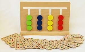 Color de madera Clasificación Jigsaw Puzzle juego de mesa-Brainteaser Puzzle Juego