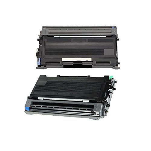 Weemay Compatible Toner Cartridge and Drum Unit Replacement for Brother TN350 DR350 Use for Intellifax 2820 2920 2910 HL 2070 2040 DCP 7020 MFC 7820N 7220 7225 7420 Printers (1 Toner & 1 Drum Unit) (Mfc 7220 Laser Printer)