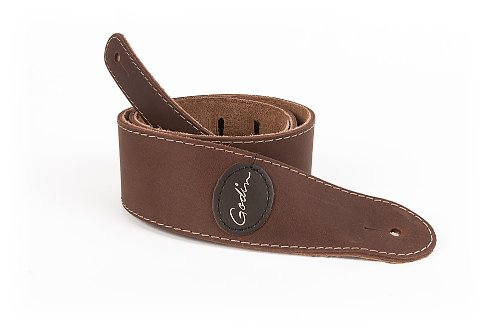 Godin Guitars 037254 Guitar Strap, Godin Mat Brown Leather w