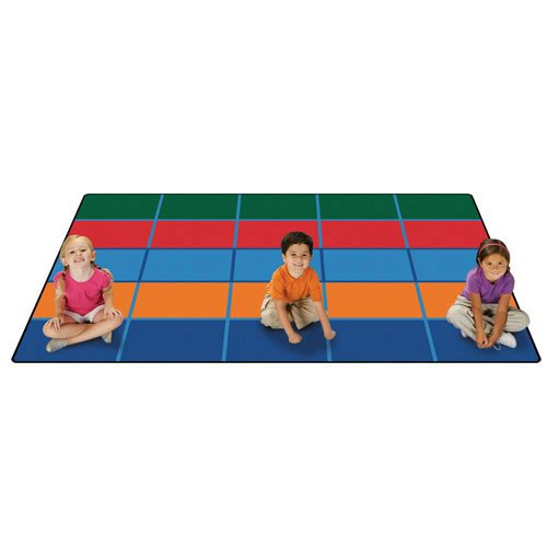 Carpets for Kids 72.91 Color Blocks Value Seating Kids Rug Size: 6' x 9' 6' x 9' , 6' x 9' , Multicolored