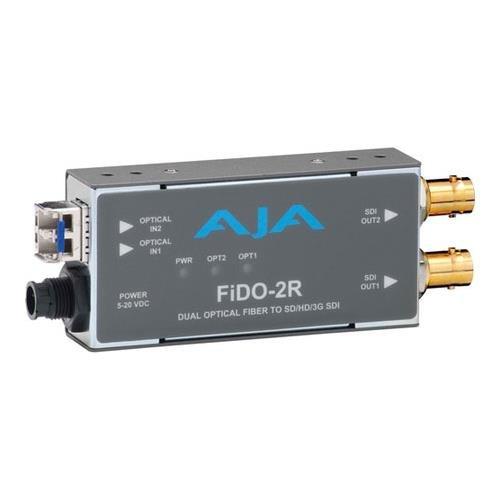 AJA FiDO-2R Dual Channel Fiber to SDI Converter Aja Dwp Power Supply