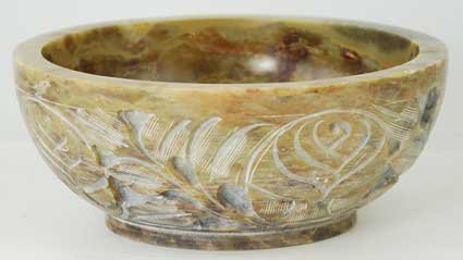 Soapstone Bowl (NEW Soapstone Scrying and Smudge Bowl (Scrying - Bowls & Mirrors) by Sage Cauldron)