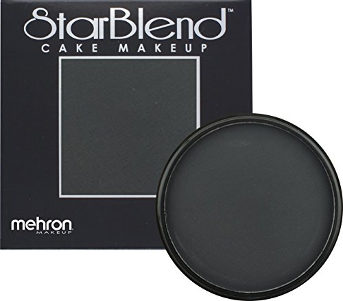 Mehron Makeup StarBlend Cake Makeup BLACK – 2oz (Red And White Halloween Cake)