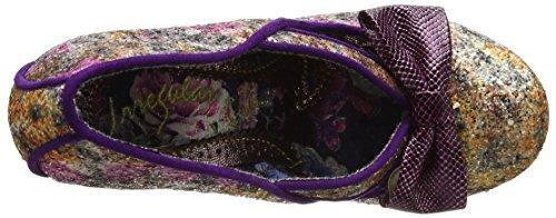 Irregular Choice Women's Hello Ha Closed-Toe Heels Purple (Purple/Gold) EjRzi