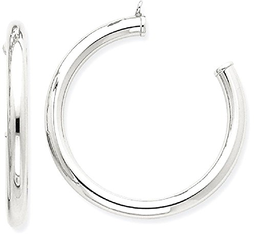 ICE CARATS 14k White Gold Tube Hoop Earrings Ear Hoops Set Jacket Earring Jackets Studs Fine Jewelry Gift Set For Women Heart by ICE CARATS
