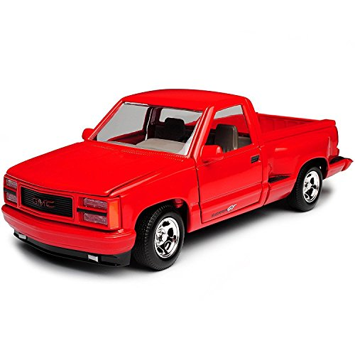 1992 GMC Sierra GT Red Pickup Truck 1/24 Diecast Model by Motormax 73204