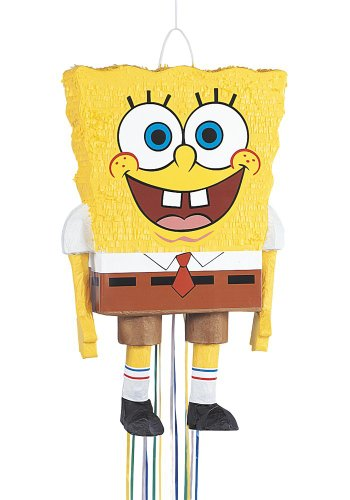 Party 3d Pinata - SpongeBob SquarePants Pinata, Pull String