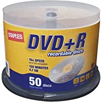 Staples DVD+R 50 Disc Spindle