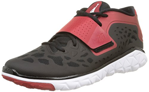 Nike Jordan Men's Jordan Flight Flex Trainer 2 Black/White/Gym Red Training Shoe 8 Men US by NIKE