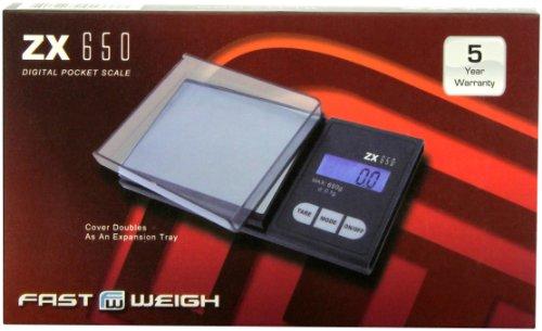Pocket Gram Scale Digital - American Weigh Scale Fast Weigh Zx-650 Digital Pocket Scale, Black, 650 X 0.1 G