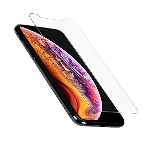 PITAKA Screen Protector iPhone Xs Max 6.5, 0.33mm Tempered Glass Phone Accessories Screen Protector 2.5D with [Alignment Frame] Slim Anti-Fingerprint, Smudge & Bubble Free Easy Installation